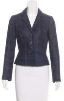 Tory Burch Tweed Notched-Lapel Blazer