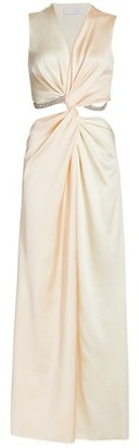Marina Moscone Sleeveless Twist Satin Gown