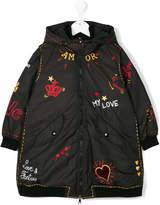 Dolce & Gabbana multiprint down coat