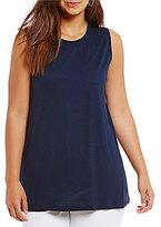 Lauren Ralph Lauren Plus Jersey Sleeveless Top