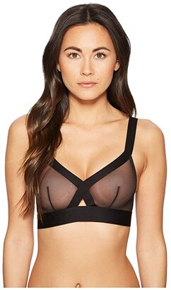 DKNY Intimates Sheers Wireless Soft Cup Bralette (Black) Women's Bra