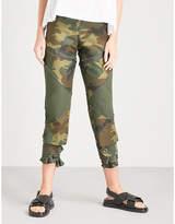 Sacai Camo-print cotton trousers