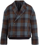 Wooyoungmi Double-breasted checked wool blazer
