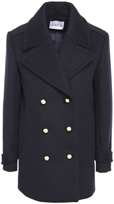 Claudie Pierlot Double-breasted Wool-blend Felt Coat