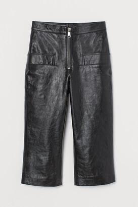 H&M Leather Capri Pants