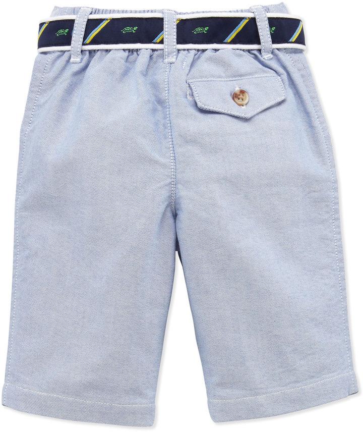 Ralph Lauren Stripe Jersey Polo & Oxford Pants Set, 3-12 Months