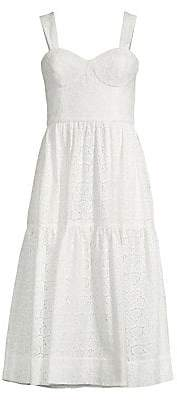 Rebecca Vallance Women's Valentina Eyelet Fit-And-Flare Dress