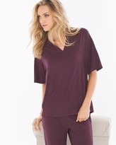 Soma Intimates Pop Over Pajama Top Heather Marsala