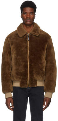 Yves Salomon Army Brown Merino Jacket