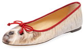 Charlotte Olympia Companion Printed Leather Flat