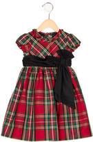 Ralph Lauren Girls' Plaid Short Sleeve Dress Set