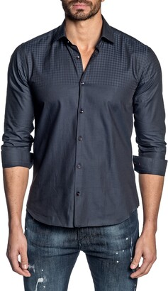 Jared Lang Regular Fit Check Button-Up Shirt