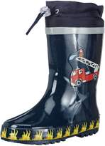 Playshoes Fireman Collection Rubber Rain Boots (11.5 M Little kid)