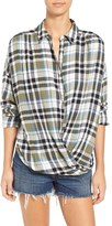 BP Women's Twist Front Plaid Shirt
