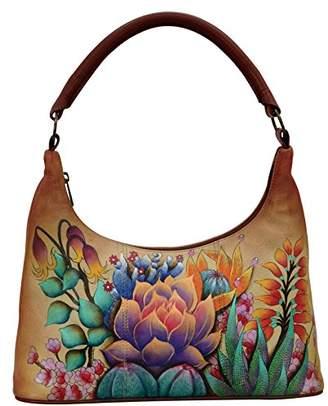 Anuschka Women's Genuine Leather Bag | Top Zip Hobo/Shoulder Bag |