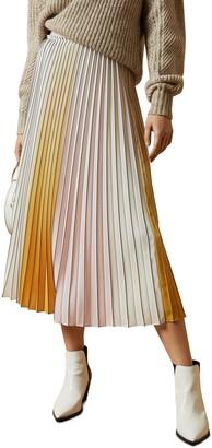Ted Baker Noviia Ombre Pleated Midi Skirt