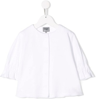 Il Gufo Gathered Sleeve Cuff Blouse