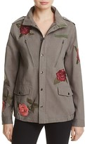 Honey Punch Rose Embroidered Military Jacket