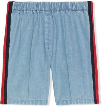 Gucci Kids jeans with Web stripe