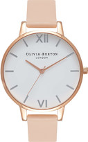 Olivia Burton OB16BDW21 rose gold-plated stainless steel and leather watch