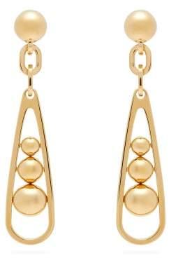 Prada Ball-embellished Drop Earrings - Womens - Gold