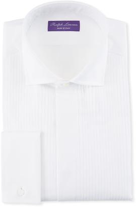 Ralph Lauren Purple Label Basic Pleated French-Cuff Tuxedo Shirt