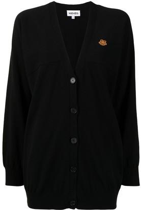 Kenzo Tiger crest V-neck cardigan