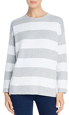 Eileen Fisher Petites Striped Organic Cotton Boxy Sweater
