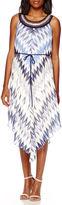 Studio 1 Sleeveless Necklace Trim Alterative-Hem Maxi Dress