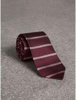 Burberry Modern Cut Striped Silk Tie