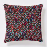 west elm Beaded Inset Diamond Pillow Cover