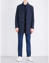 Canali Notch-lapel Woven Coat