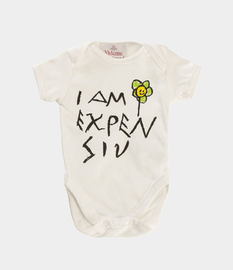 Vivienne Westwood Expensive Baby Grow Natural White