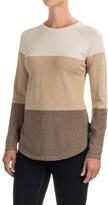 Jeanne Pierre Color-Block Cotton Sweater - Crew Neck (For Women)