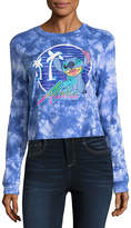 Freeze Long Sleeve Lilo & Stitch Graphic Boxy Tee- Juniors