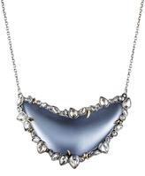 Alexis Bittar Jardin Mystère Jagged Crystal Framed Crescent Necklace