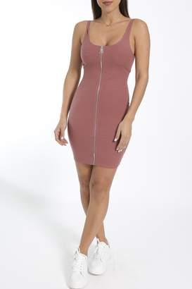 Cattiva Girl Full-Zipper Tank Dress