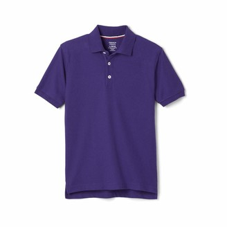 French Toast Boys' Short Sleeve Pique Polo Shirt (Standard & Husky)