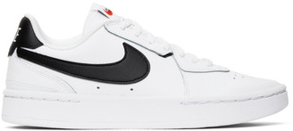 Nike White and Black NikeCourt Blanc Sneakers
