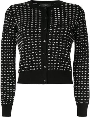 Paule Ka contrast knit cardigan