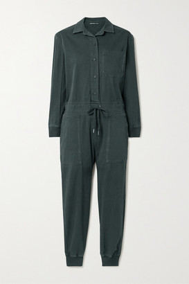 James Perse Stretch-cotton Twill Jumpsuit - Black
