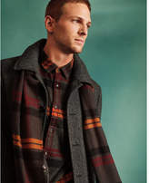 Express fringe-trim plaid scarf