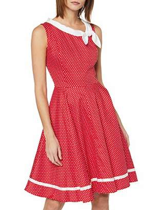 Joe Browns Women's Quirky Polka Dot Bow Detail Dress Red/White B, (Size:UK )