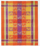 Bodrum Set Of 6 Modena Roosters Orange Dish Towels