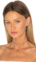 Ettika Moon Lariat Choker in Metallic Gold.