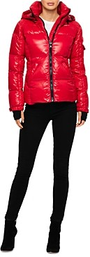 S13 Kylie Glossy Fleece Cuff Puffer Coat (64.4% off) Comparable value $225