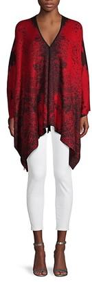 Donna Karan Printed V-Neck Top
