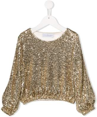 Le Gemelline By Feleppa sequin-embellished long-sleeve sweatshirt