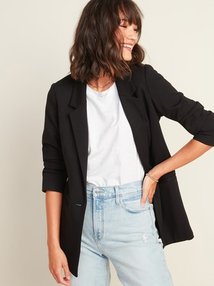Old Navy Ponte-Knit Boyfriend Blazer for Women