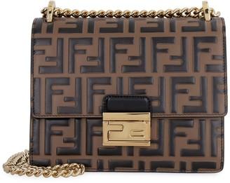 Fendi Kan U Crossbody Leather Bag